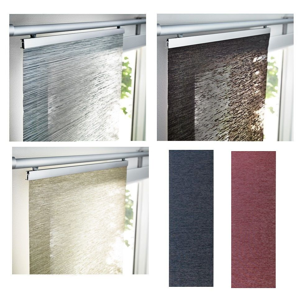 Ikea Anno Sanela Curtain Panel Blue Beige Brown Gray Lilac Purple Only Panel EBay