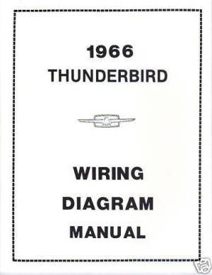 1966 FORD THUNDERBIRD WIRING DIAGRAM MANUAL | eBay
