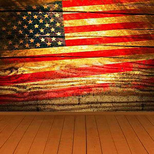 American Flag 8x8 CP Backdrop Computer Painted Scenic