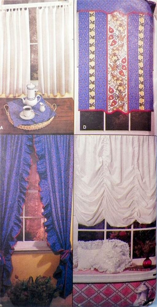 Curtains Window Treatments Sewing Pattern Shade Valance Vintage NOS EBay