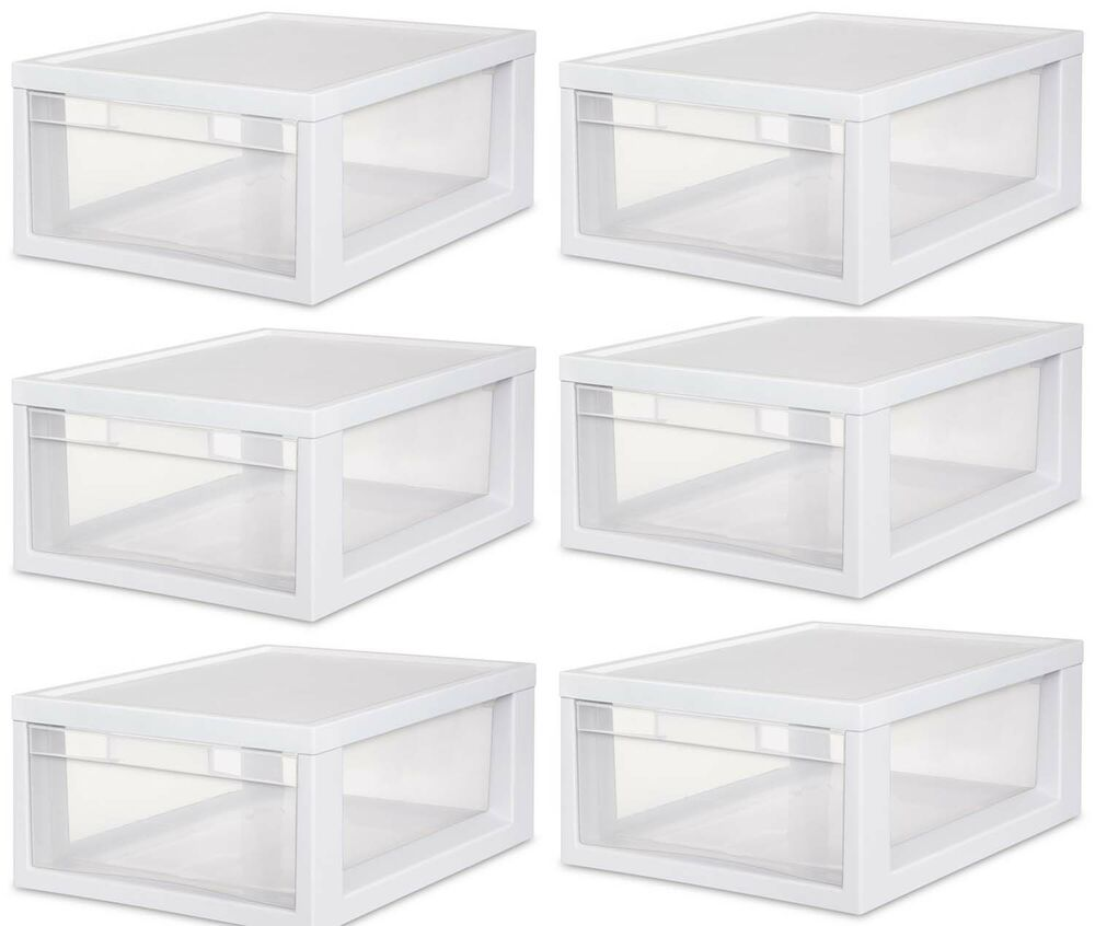 Stackable Plastic Bins Drawers