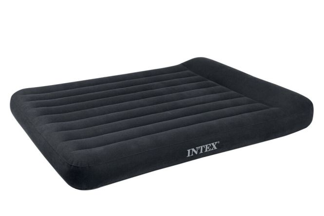 Intex Classic Inflatable Full Air Mattress Bed With Built In Pillow Rest Pump Ebay