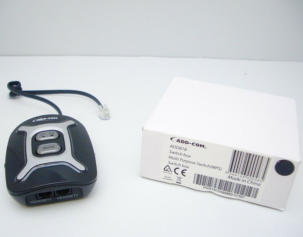 AddCom ADD818 Multi-Purpose Switch MPS For Headset With
