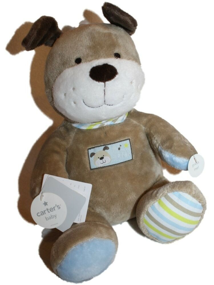 NEW Baby Carters Brown Plush Dog Singing Musical Animated