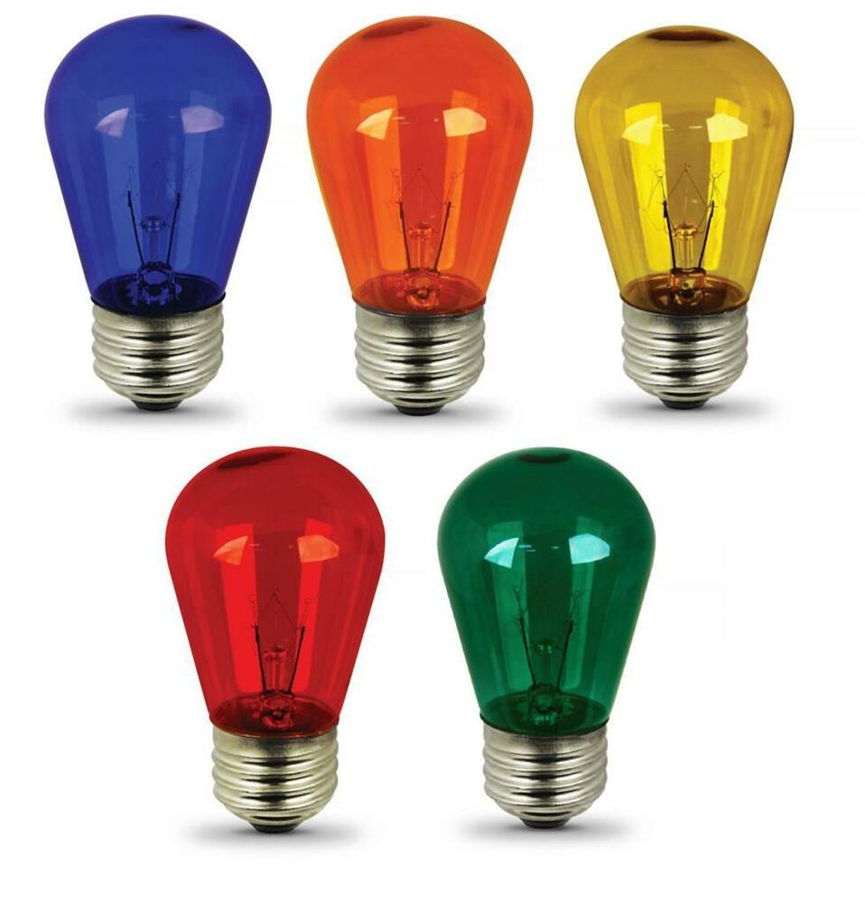 Colored Incandescent Light Bulbs