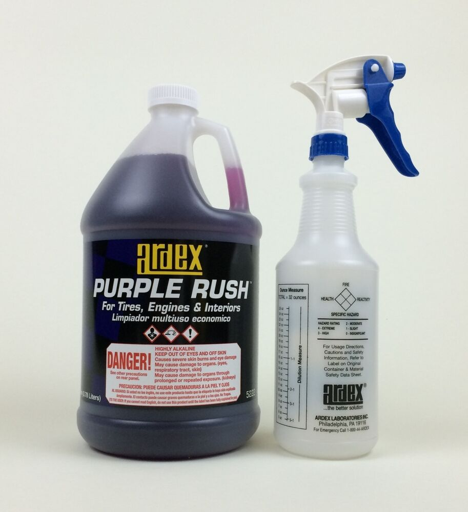 Car Detailing Engine Tire Wheel Cleaner Ardex Purple