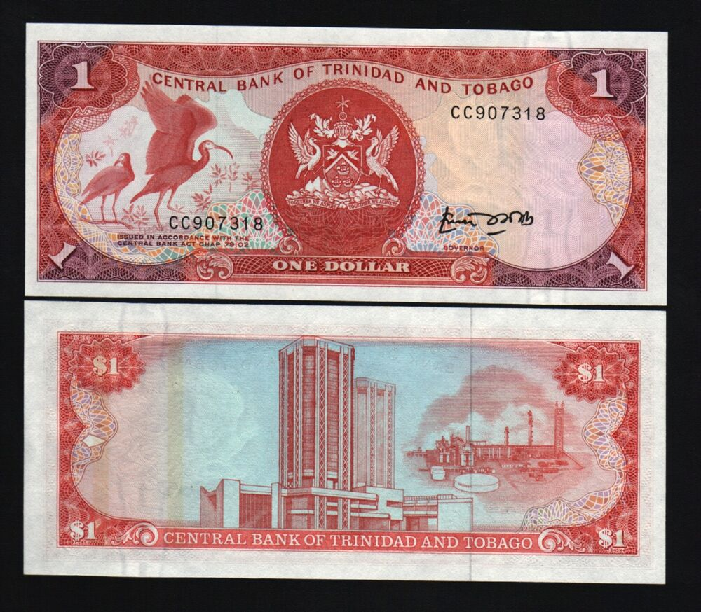 And Coin And 20 Bill And Dolla Cent Tobago Trinidad 1 Trinidad And Dollar Tobago