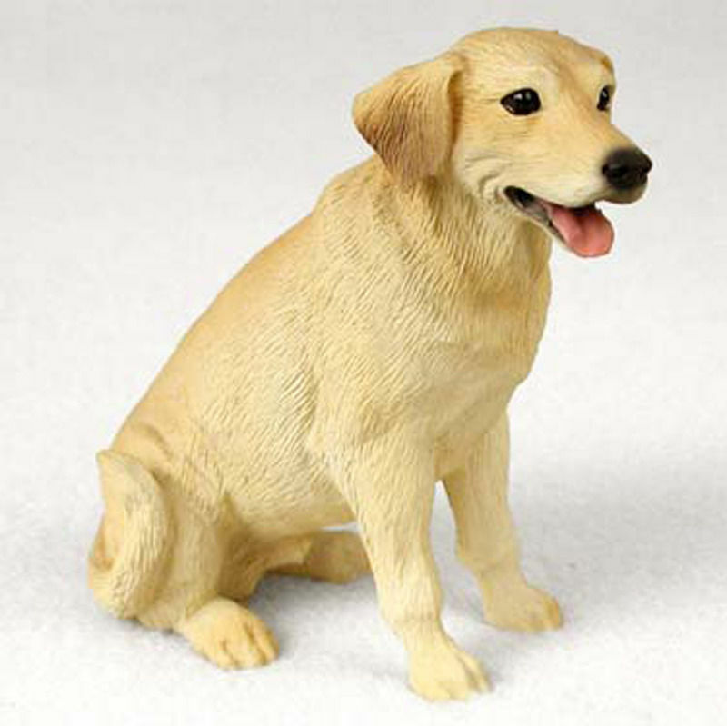 Yellow Lab Hand Painted Collectible Dog Figurine EBay