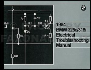 1984 BMW 325e 318i Electrical Troubleshooting Manual