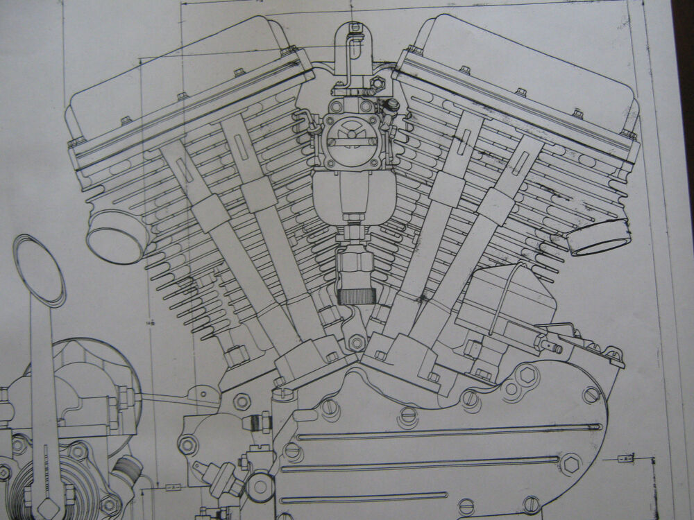Blueprints Panhead Engine