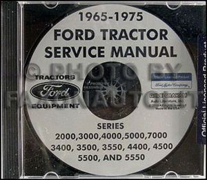 Ford Tractor Shop Manual CD 2000 3000 4000 5000 7000