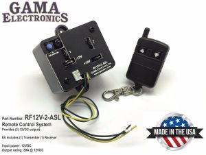 RF Remote Control Two 12Volt Outputs waux switch leads