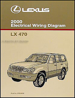 2000 Lexus LX 470 Wiring Diagram Manual NEW Electrical