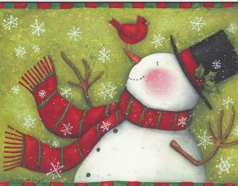 Lang Christmas Cards Box Of 21 Snowmans Suprise By