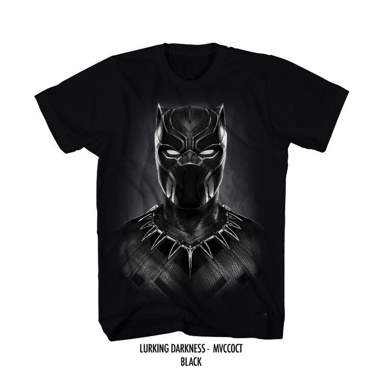 Panther Shirts Black Marvel T