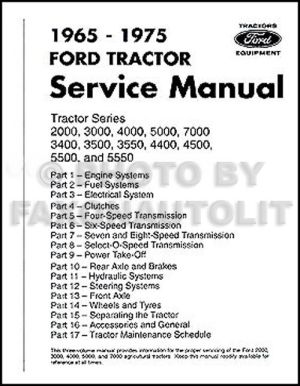 Ford Tractor Repair Shop Manual 2000 3000 3400 3500 4000