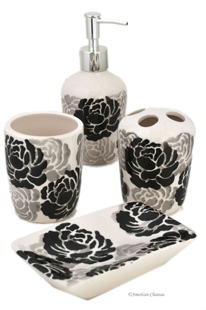 Grey Bathroom Accessories Set