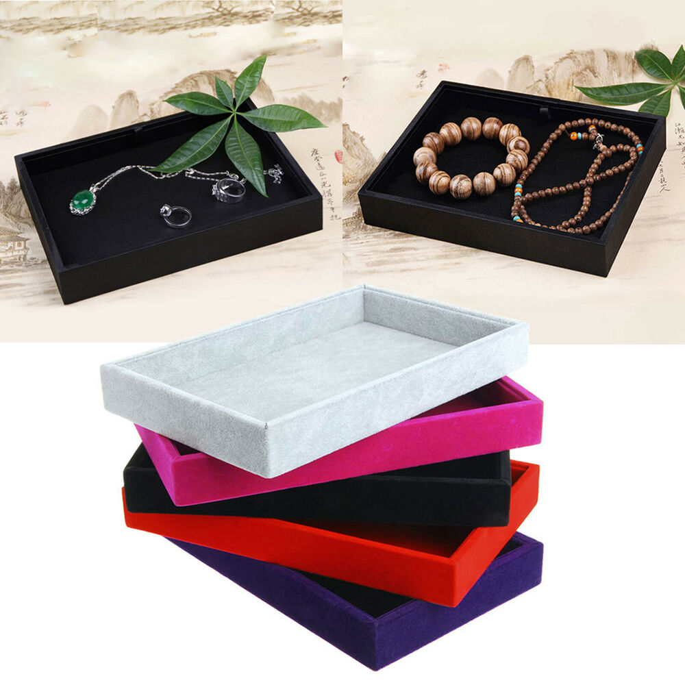 Stackable Jewelry Trays Inserts Velvet Catch All Jewelry