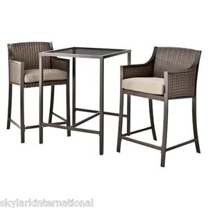 bar height table and chairs patio furniture outdoor wicker patio: bar height patio chair