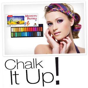 boxed 32 colour soft hair chalk salon quality dye pastels temporary chalks uk ebay
