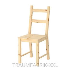 IKEA MASSIVHOLZ Küchenstuhl Stuhl Kiefer IVAR Holzstuhl ...