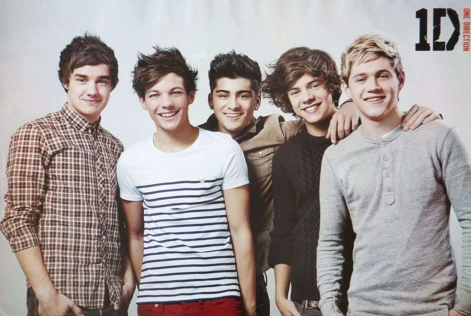 One Direction Group Smiling Poster From Asia