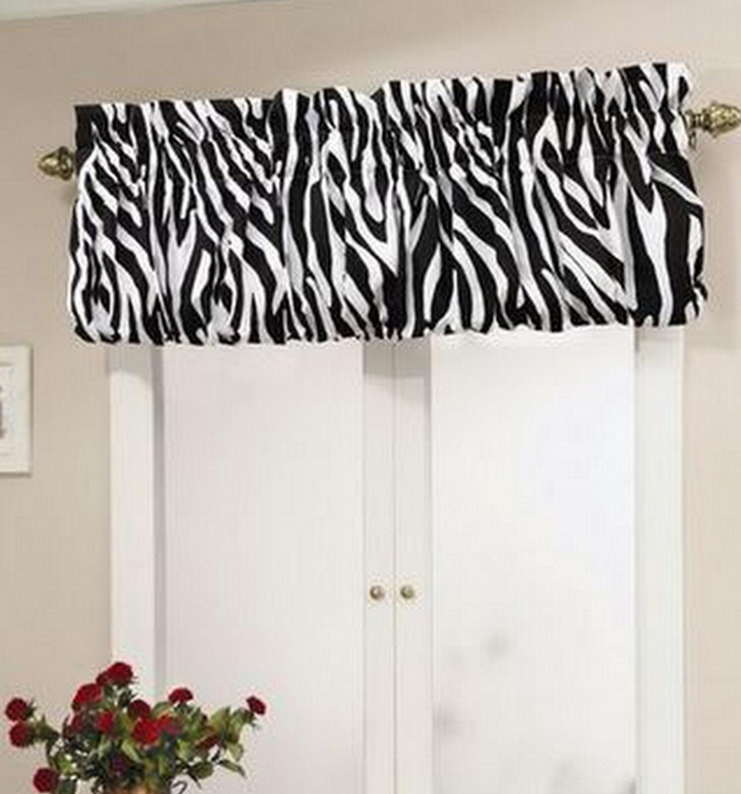Top It Off Zebra Window Valance Trendy Design Size 72