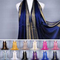 FR_Coton gland long hijab pashmina châle écharpe foulards étole femme mode W