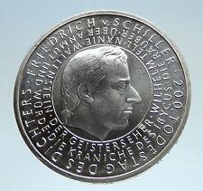 2005 GERMANY w Playwright Friedrich von Schiller Genuine Silver 10EU Coin i75186