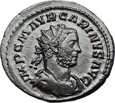 CARINUS Original Authentic Ancient 283AD Lugdunum Roman Coin AEQUITAS i69261
