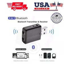 3 in 1 USB Bluetooth 5.0 Audio Transmitter/Receiver Adapter For TV/PC/Car Grace