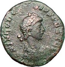 THEODOSIUS I the Great   Ancient Roman Coin CROSS Victory Nike w captive i26428