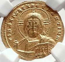 CONSTANTINE VII Authentic Ancient Byzantine GOLD Coin w JESUS CHRIST NGC i70004