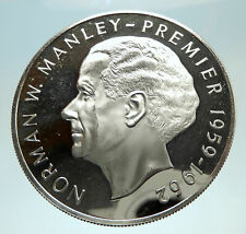 1973 JAMAICA Proof HUGE 4.5cm Premier Norman W Manley Silver $5 Coin i76763