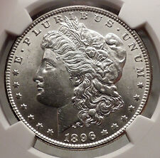 1896 MORGAN SILVER DOLLAR United States of America USA Coin NGC UNC Detai i57722