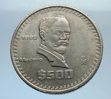 1988 MEXICO Mexican HERO President Francisco Madero 500 Pesos Coin EAGLE i70763
