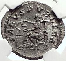 MACRINUS Genuine 217AD Rome Authentic Ancient Silver Roman Coin SALUS NGC i68753