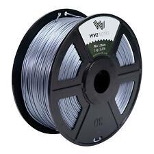 Silk Metallic Silver - PLA 1.75mm 3D Printer Premium Filament 1kg/2.2lb Shiny