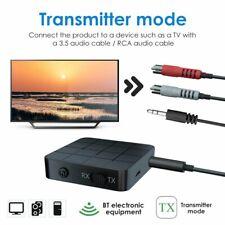 2in1 Bluetooth 5.0 Receiver Transmitter 3.5mm Stereo For TV PC Headphone Speaker