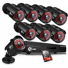 XVIM 1080P HDMI HD-TVI 8CH /4CH DVR IR Night Vision CCTV Security Camera System