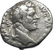 SEPTIMIUS SEVERUS 195AD  Rome Silver Rare Ancient Roman Coin Minerva i67351