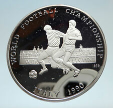 1990 AFGHANISTAN FIFA World Cup Soccer Football Genuine Silver 500A Coin i75293