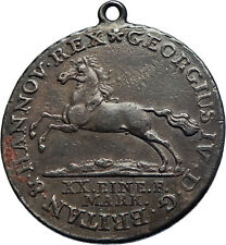 1820 HANNOVER GERMAN STATE Silver KING GEORGE III w HORSE NECKLACE Coin i71912