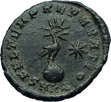 CONSTANTIUS II Ancient 348AD Authentic Roman Coin w PHOENIX on GLOBE i66455
