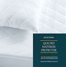 Luxury Quilted Mattress Protector Cover Up To 30cm Deep All Bed Sizes Double