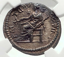 SEPTIMIUS SEVERUS Authentic Ancient 197AD Rome Silver Roman Coin PAX NGC i72771