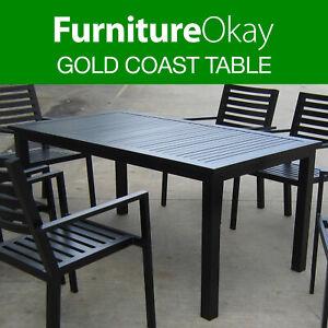 aluminium tabletop black patio garden