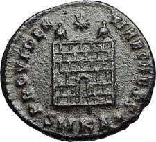 CONSTANTIUS II Authentic Ancient 325AD Roman Coin Military CAMP GATE i67661