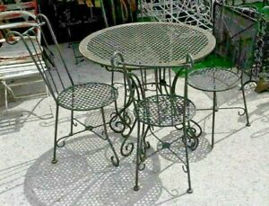 salon de jardin en fer forge ebay