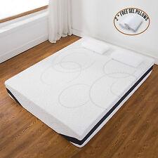 12 Inch Queen Size Cool Medium Firm Memory Foam Mattress Bed W 2 Free Pillows
